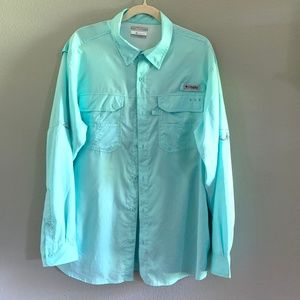 COLUMBIA Mens PFG Omni-Shield Vented Fishing Shir